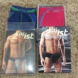 Men's 2Xist Liquid Cotton & Fusion No-Show Briefs